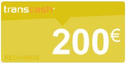 recharge transcash 200€