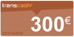 recharge transcash 300€