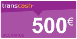 recharge transcash 500€