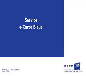 E Carte Bleue Bred Un Service De La Banque Populaire