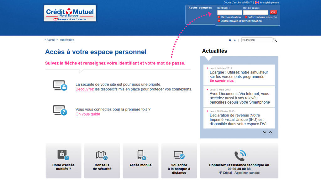 cybertmut crédit mutuel : consulter ses comptes