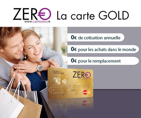 fonctionnement carte zero gold mastercard